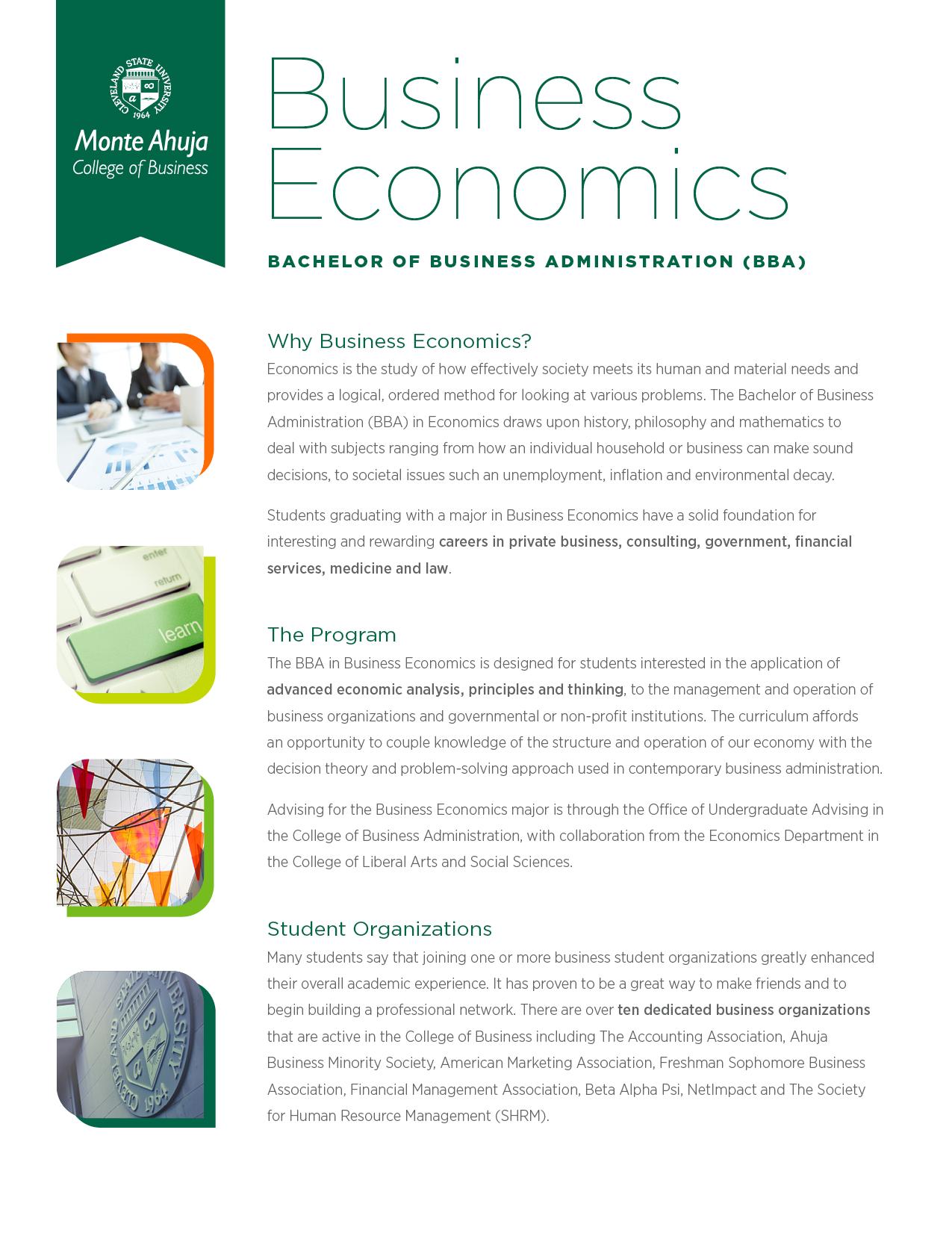 Economics business plan