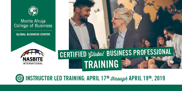 Certified Global Business Professional Training - April 2019