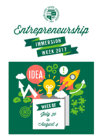 Entrepreneurship Immersion Week 2017 is July 30th through August 4th