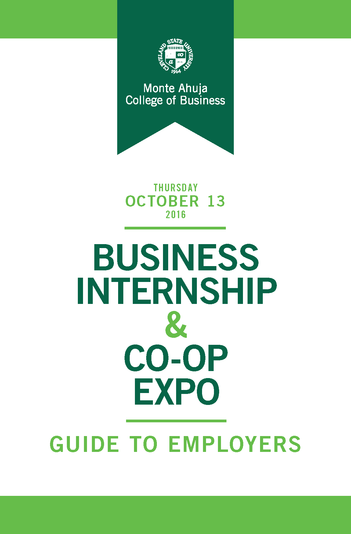 2016 Business Internship & Co-op Expo Guide to Employers