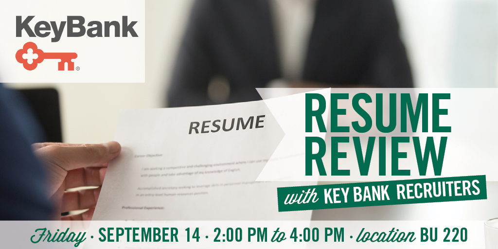 Resume Review with KeyBank Recruiters - September 14, 2018