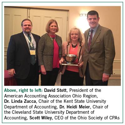 Dr. Heidi Meier Named 2016 Outstanding Ohio Accounting Educator