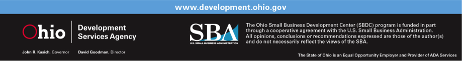 Ohio Development Services Agency - Small Business Administration