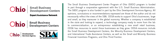 SBDC Export Assistance Network funding statement
