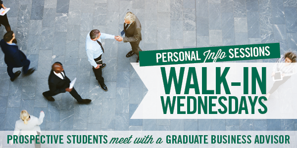 Walk-in Wednesdays - Get Your Personal Information Session with a Graduate Business Advisor