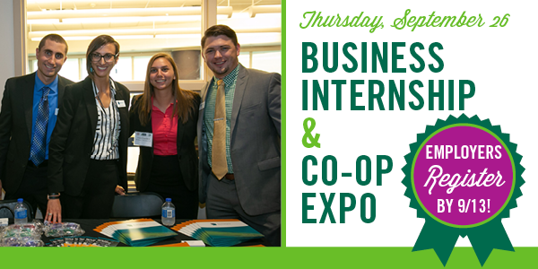 2019 Employers - Register for the Fall Business Internship and Co-op Expo