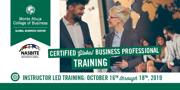 Certified Global Business Professional Training - October 16-18, 2019