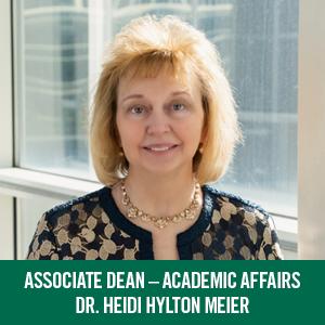Dr. Heidi Hylton Meier - Associate Dean, Academic Affairs