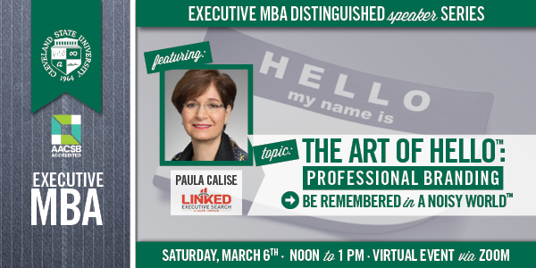 EMBA Distinguished Speaker Series - Featuring Paula Calise - March 6, 2021