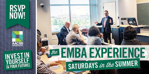 EMBA Experience - Saturdays in Summer 2020