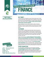 Finance Major Four Year Plan 2019