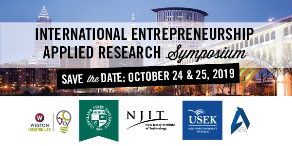 International Entrepreneurship Applied Research Symposium - Save the Date