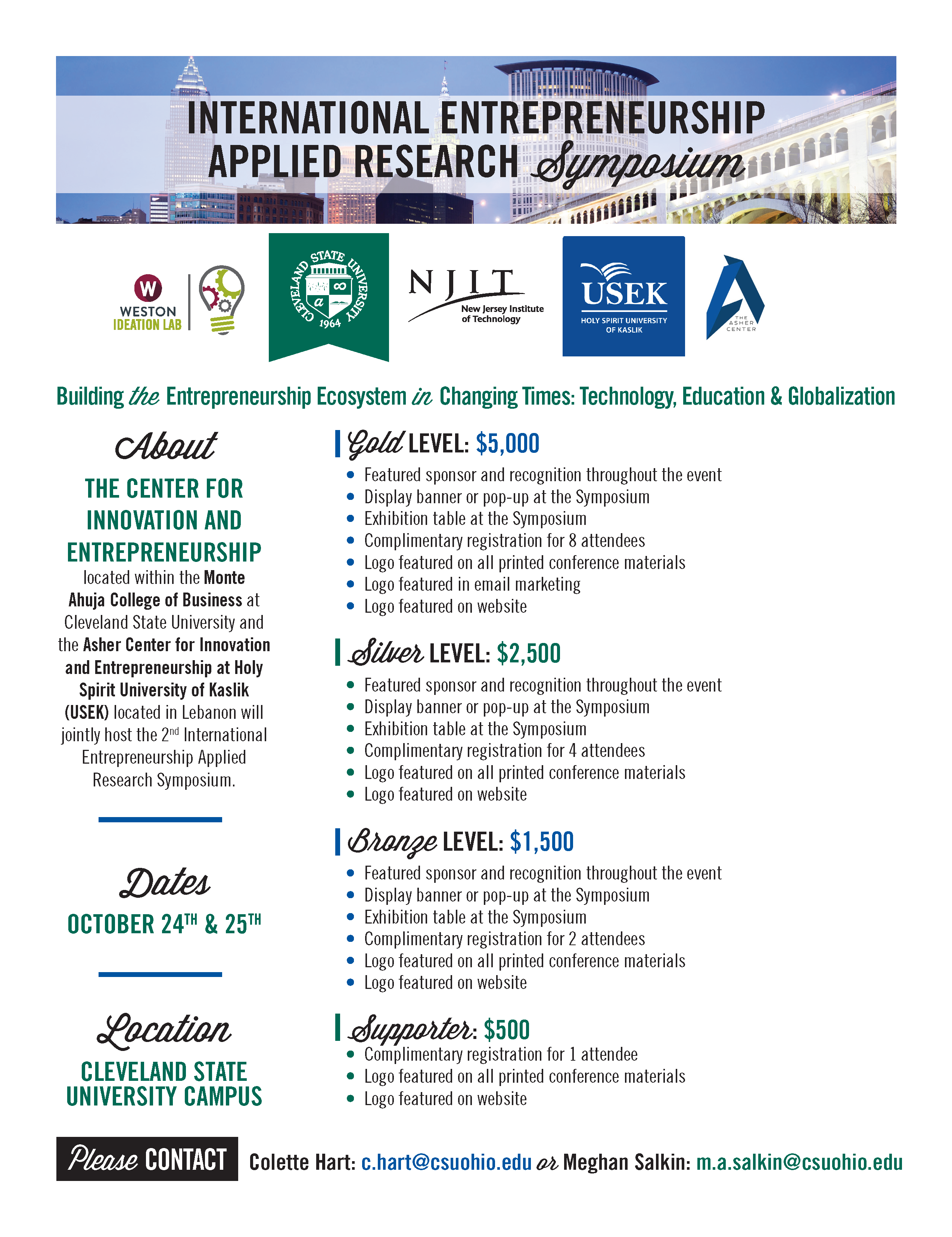 International Entrepreneurship Applied Research Symposium - Sponsorship
