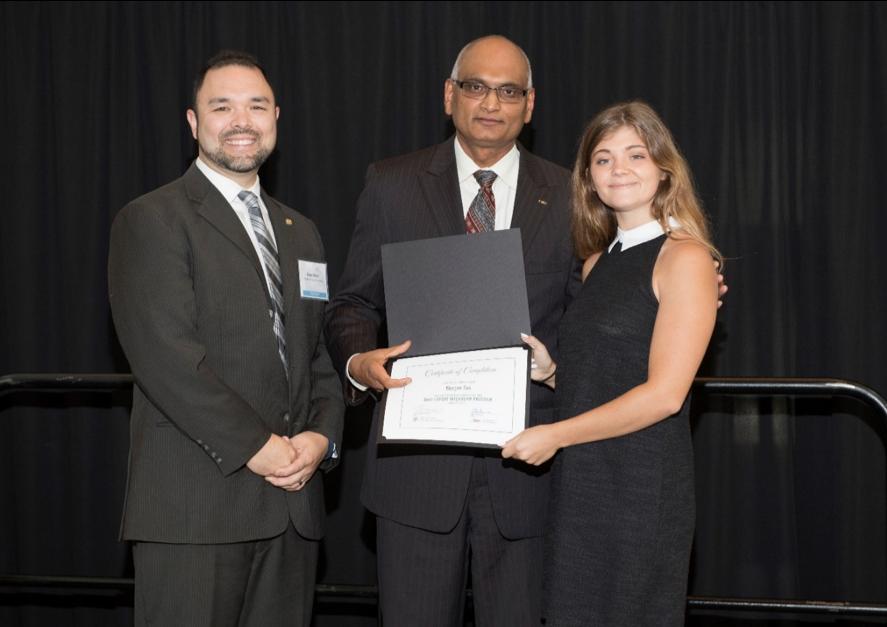 Nate Ward, Sanjay Putrevu and Morgan Sas at the 2018 Ohio Export Internship Program Celebration