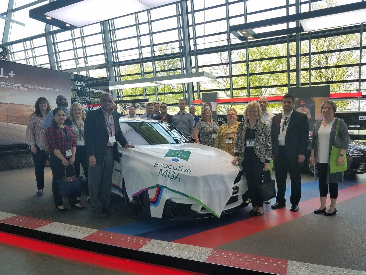EMBA Class of 2019 at BMW HQ in Munich