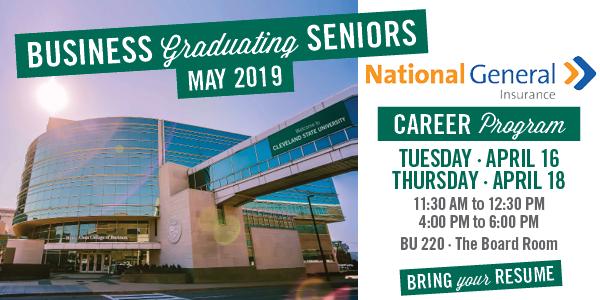 National General Insurance - Graduating Seniors Career Program - April