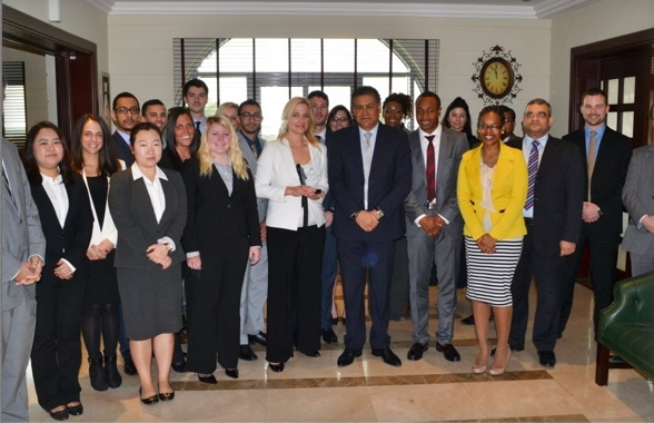 Cleveland State University Students in UAE on a Faculty-Led Study Abroad Tour