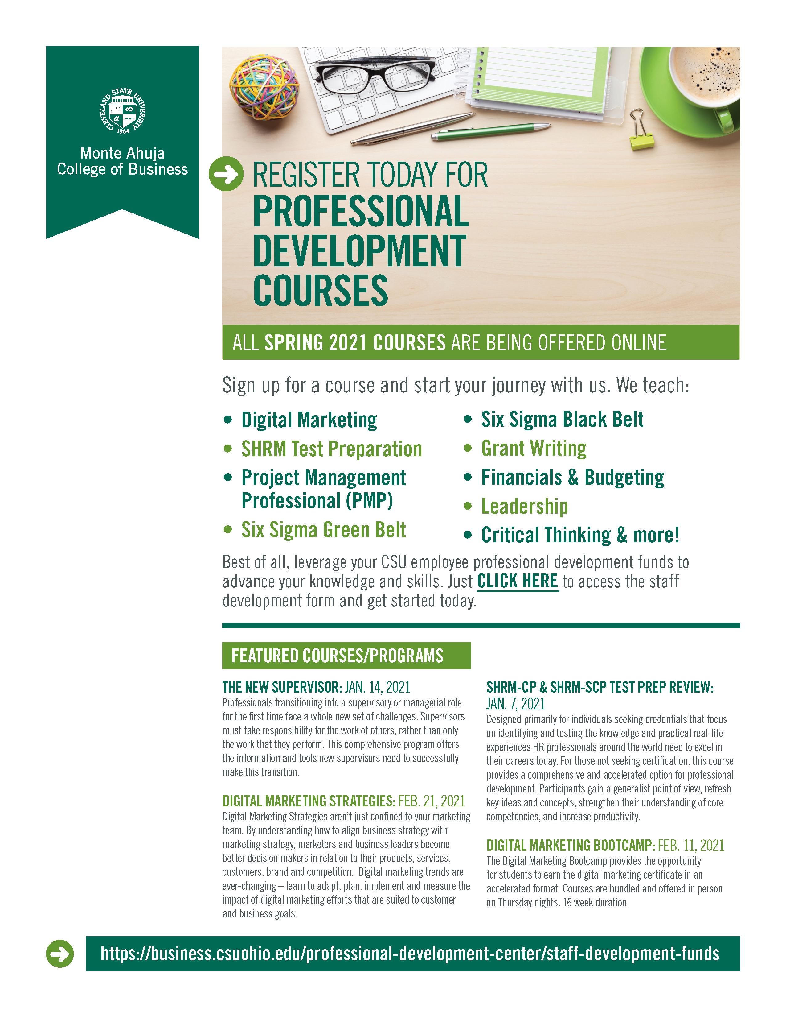 Cleveland State University Academic Calendar 2021-2022 Staff Development Funds | Cleveland State University