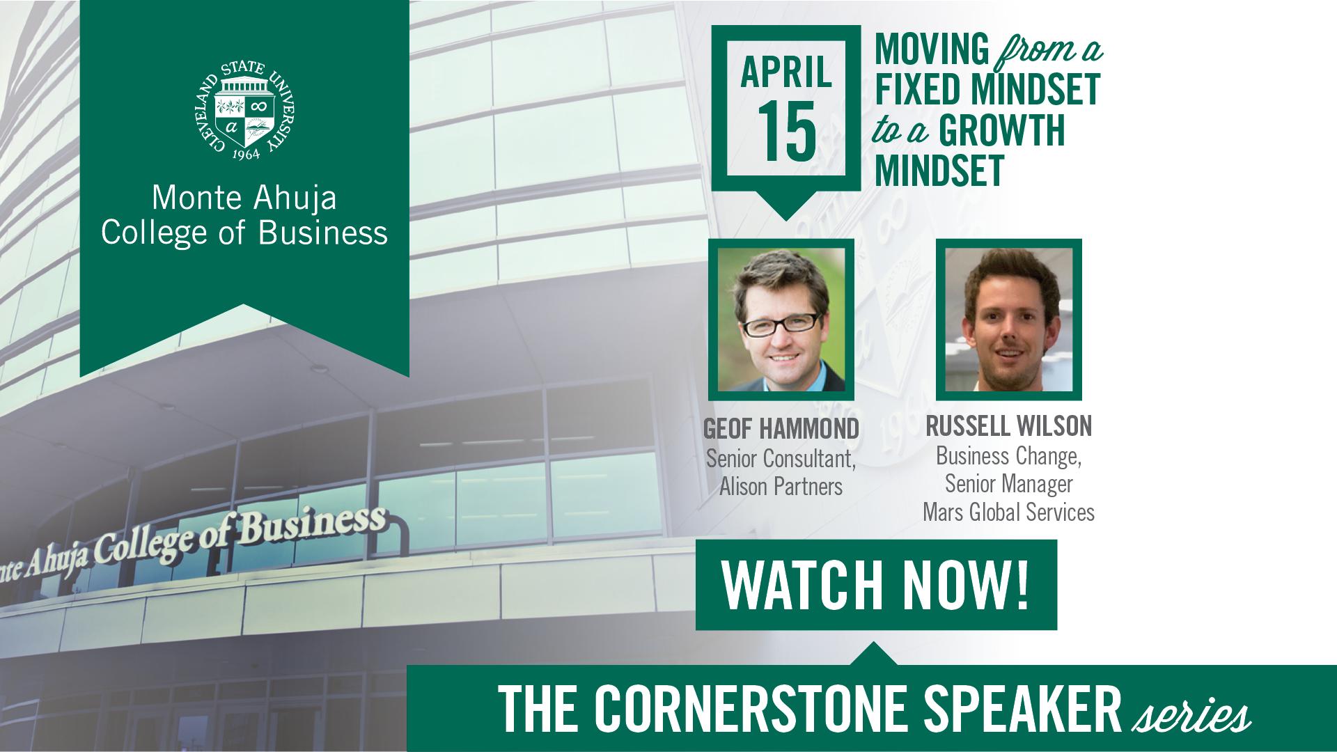 Cornerstone Speaker Series April 2021