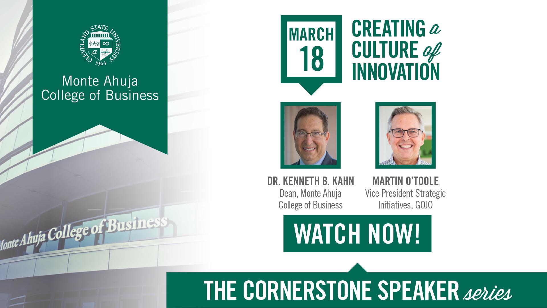 Cornerstone Speaker Series - March 2021