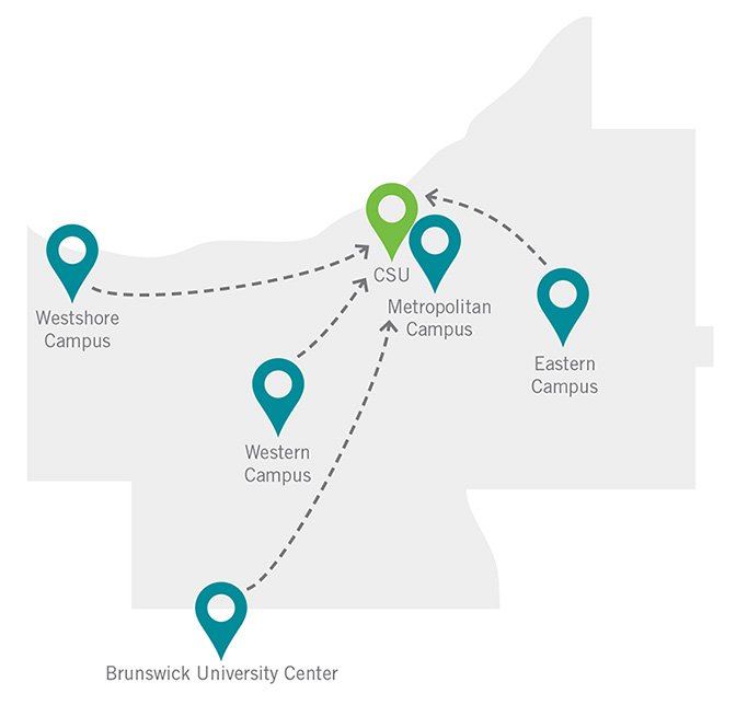 tri c eastern campus map The Tri C To Csu Business Degree Program Cleveland State University