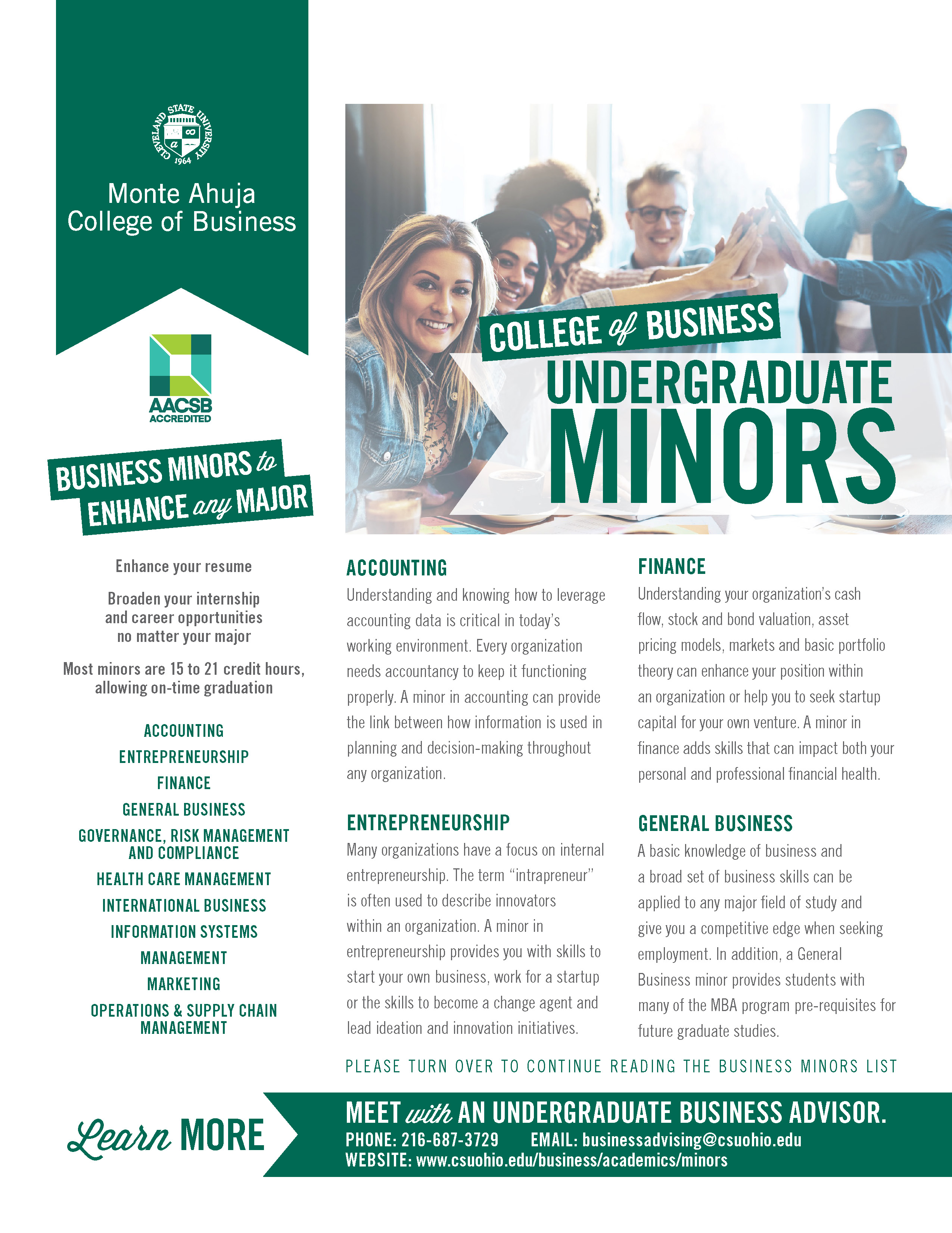 Undergraduate Business Minors 2019