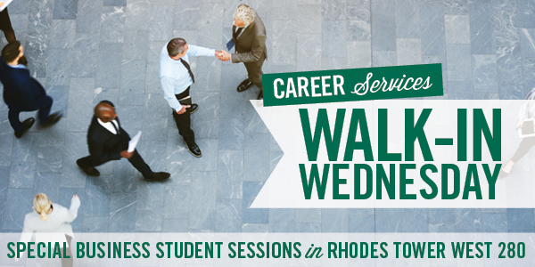 Career Services Walk-in Wednesday - April 17, 2019