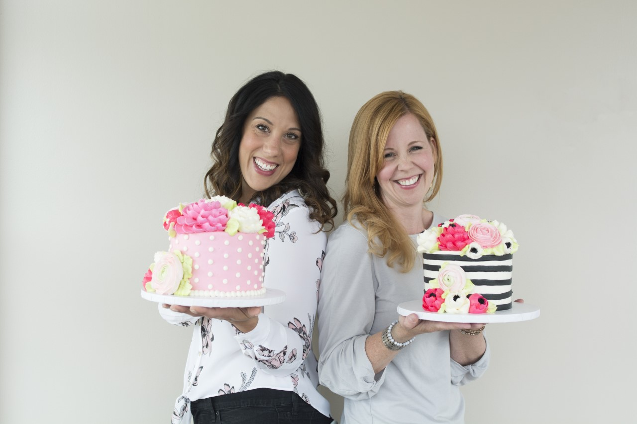 Lauren Bozich and Marianne Carroll, owners of The White Flower Cake Shoppe.