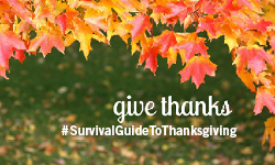 #SurvivalGuideToThanksgiving