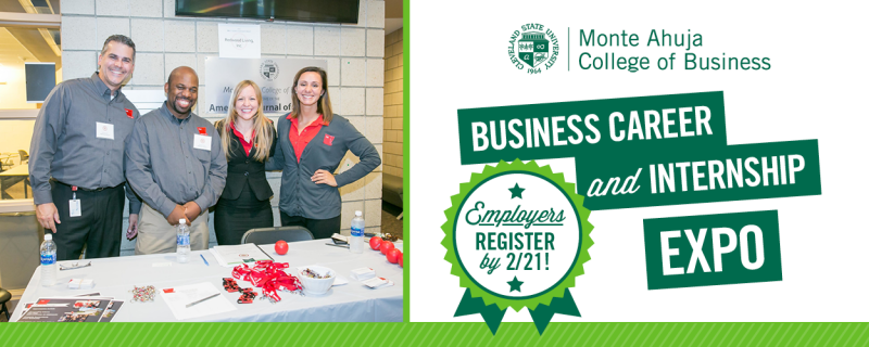 Employers - Register for the Business Career & Internship Expo by February 21st