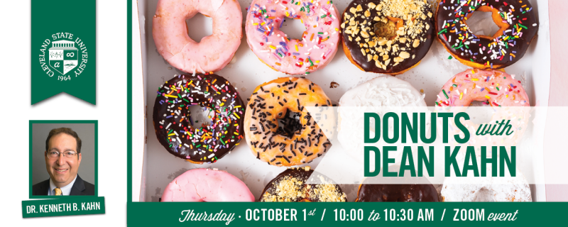 Virtual Donuts With The Dean - October 1, 2020