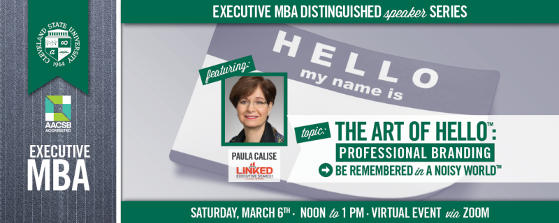 Executive MBA Distinguished Speaker Series - March 6, 2021