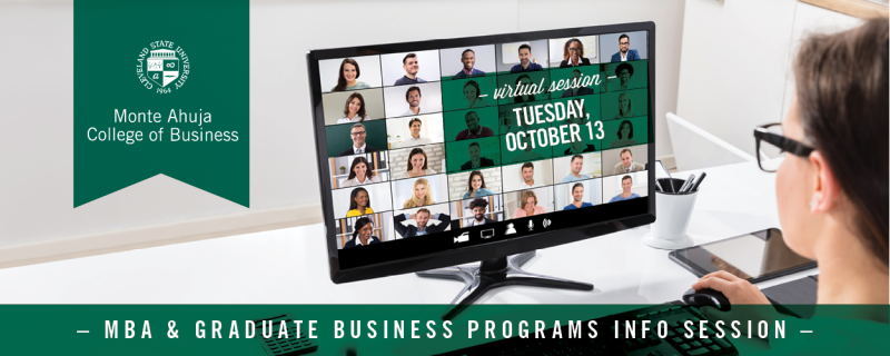 Join Us For Our Next MBA & Graduate Programs Information Session - Via Webinar On October 13th. RSVP Here Today.