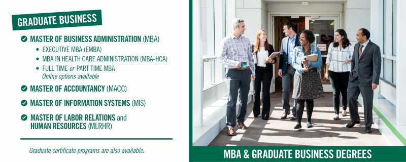 MBA and Graduate Business Degrees