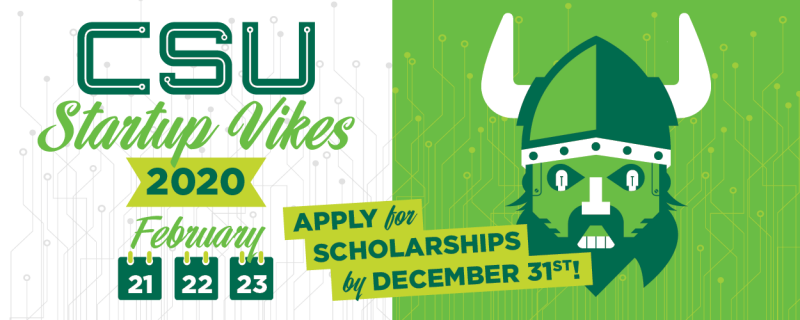 Apply for a scholarship to attend Startup Vikes by December 31st!