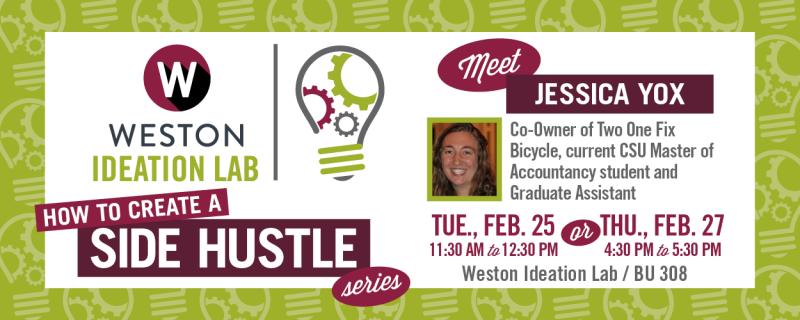 Jessica Yox - How to Create a A Side Hustle - February 2020