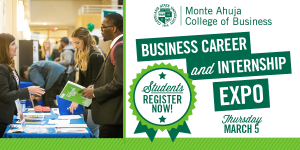 Students - Register for the Business Career and Internship Expo March 3 2020