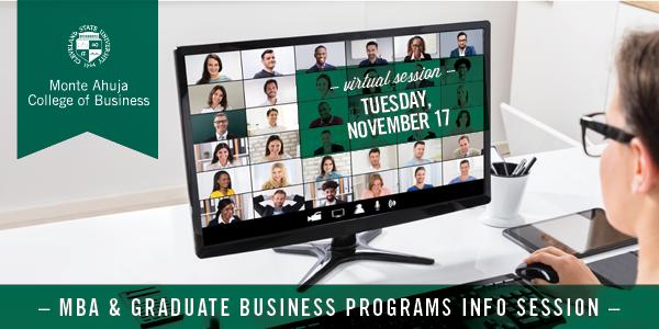 MBA & Graduate Programs Information Session - November 17, 2020