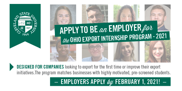 Employers - Apply for the Ohio Export Internship Program by February 1st