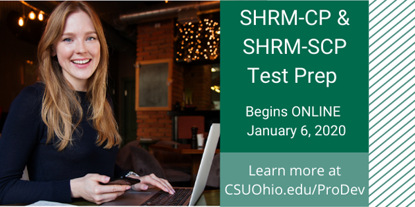 SHRM-CP and SHRM-SCP Test Prep - Starts January 6, 2020
