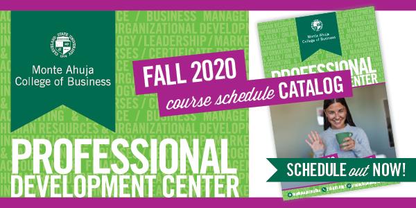 Professional Development Center - Fall 2020 Course Schedule