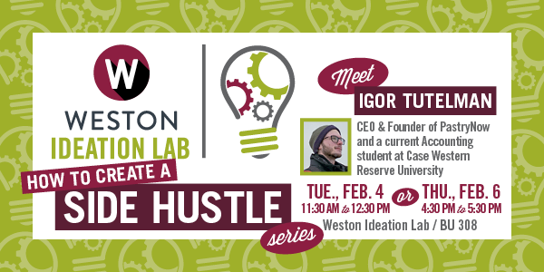 Register Today for How To Create A Side Hustle Featuring Igor Tutelman