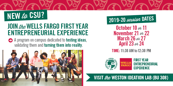 Wells Fargo First Year Entrepreneurial Experience